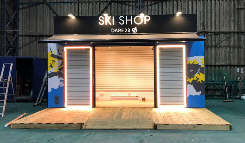 dare2b ski shop shipping container conversion