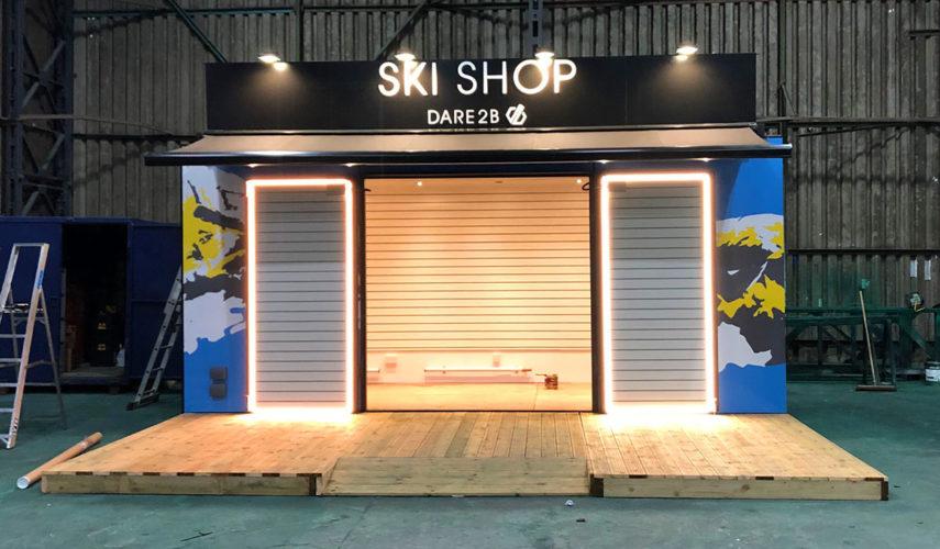 dare2b ski shop shipping container conversion