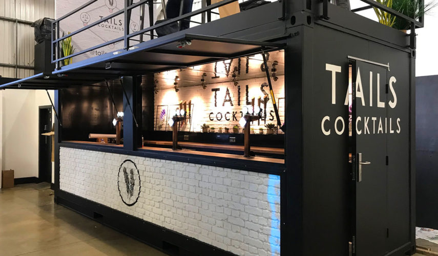 tails cocktails mobile bar shipping container conversion
